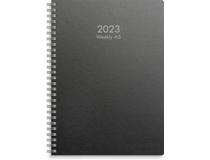 Weekly A5 miljökartong svart 2022