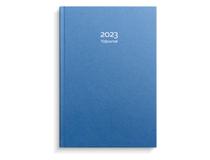 Tidjournal blått kartongomslag 2023