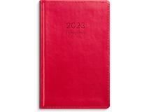 Fickagenda konstläder röd 2022