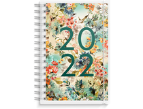 Dagbok plast med 4 utbytbara motiv 2022