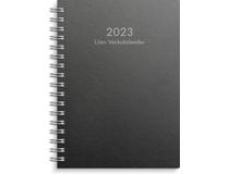 Liten Veckokalender A6 miljökartong svart 2022