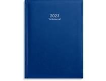 Veckojournal konstläder mörkblå 2023