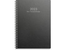 Stor Veckokalender A5 miljökartong svart 2022