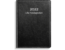 Lilla Fickdagboken konstläder svart 2022