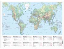 Väggblad med världskarta 2022