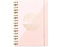 Veckokalender Life Planner rosa A6 2022