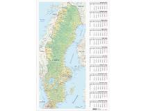Väggblad med Sverigekarta 2022