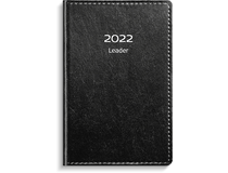 Leader inbunden konstläder svart 2022