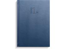 Alm. Burde 1 års Dagbok blått konstläder