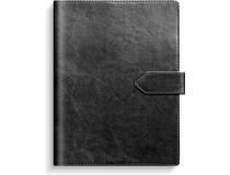 Dagbok svart konstläder med slejf 2022