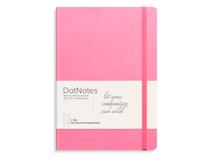 Anteckningsbok A5 DotNotes konstläder rosa