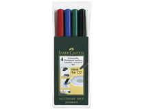 OH-penna/märkpenna Faber-Castell Multimark 1513 F 4st/set
