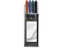 OH-penna/märkpenna Faber-Castell Multimark 1524 SF vattenbaserad 4st/set