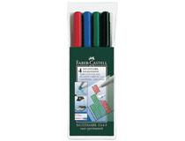 OH-penna/märkpenna Faber-Castell Multimark 1514 F vattenbaserad 4st/set