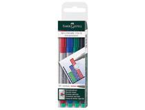 OH-penna/märkpenna Faber-Castell Multimark 1525 M vattenbaserad 4st/set