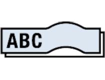 Märkband Dymo D1 9mm svart/klar