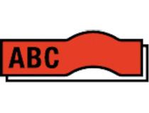 Märkband Dymo D1 12mm svart/röd