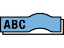 Märkband Dymo D1 12mm svart/blå