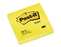 Post-it 654 76x76 neongul 6st/fp
