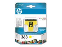 Bläckpatron HP No363 500 sidor gul