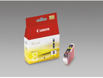 Bläckpatron Canon CLI-8Y 490 sidor gul