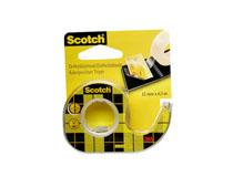 Tejp med hållare Scotch 665 dubbelhäftande 12mmx6m