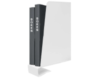 Klämbokstöd metall 19cm höger vit