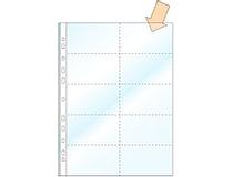 Visitkortsficka A4 transparent 100st/fp
