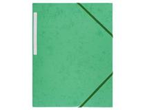Snoddmapp A4 3-klaff grön