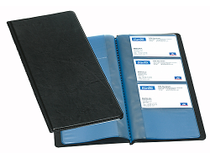Visitkortsbok 96 kort svart