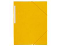 Snoddmapp A4 3-klaff gul