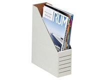 Tidskriftsamlare Standi-Box well A4 vit med linjer