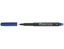 OH-penna/märkpenna Faber-Castell Multimark 1513 F blå 10st/fp