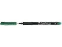 OH-penna/märkpenna Faber-Castell Multimark 1513 F grön 10st/fp