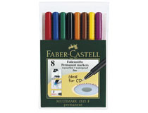 OH-penna/märkpenna Faber-Castell Multimark 1513 F 8st/set